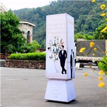 軟膜燈箱 ZOM/轉美展材 戶外旋轉風車 卡布燈箱 定制價格 異型造型燈箱廠家