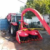 农用青贮玉米秸秆收割机 高效率圆盘式养殖用干湿青草秸秆青储机 皇竹草收获机