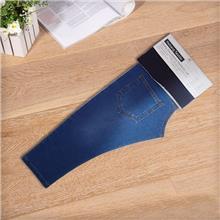 厂家供应针织牛仔面料 1018A靛蓝大毛圈  纺织皮革针织面料毛圈布