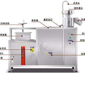 厂家供应豆腐机,商用豆浆机,自动化豆腐机械,家用黄豆水豆腐机械