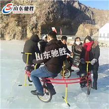 雪地骑行雪地儿童自行车多人冰雪乐园自行车价格厂家考察