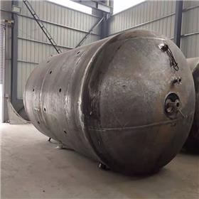 出售8成新二手6立方不锈钢反应釜 二手搪瓷反应釜