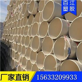 河北PVC-U排水管厂家直销UPVC排水管DE50白色下水管旱厕改造用PVC排