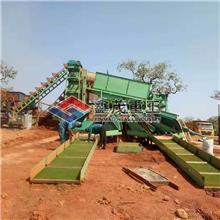 粘金草淘金设备 旱地选沙金机械 固定淘金设备