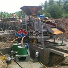 陆地固定淘金设备 振动筛选金机械 专用采金设备