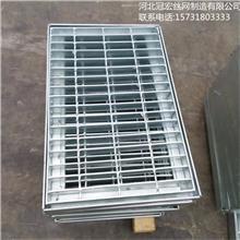 热镀锌沟盖钢格板_排水复合沟盖板_复合包边水沟钢格栅_安平钢格栅盖板