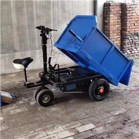建筑工地电动灰斗车 小型拉混凝土翻斗自卸三轮车 多功能小骑兵三轮车