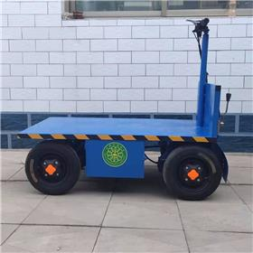 热销手推电动四轮平板车 果园用移动平板运输车 四轮短途运输周转车