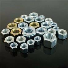 镀彩螺母 碳钢4.8级镀彩锌六角螺帽 国标六角螺帽规格齐全