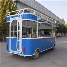 任丘电动四轮餐车适用范围广电动可爱早餐快餐车 地摊车
