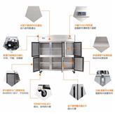 厨房冷藏挂墙柜_1.5米推拉玻璃门_采用0.6不锈钢_云南昆明柏林德挂墙柜