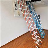 輕型鋅鋼材質合金伸縮樓梯_宏泰_簡易伸縮樓梯定制_廠家制造