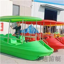 聚乙烯材質中小型公園觀光游樂公園船 四人電動船 金迪游艇