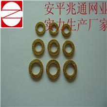 批发定做各种规格金属丝缠绕垫 丝网编织网块 针织网铜垫圈  丝网垫圈