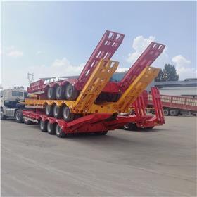 11米挖机拖板车 两轴挖掘机拖车 勾机板半挂车尺寸