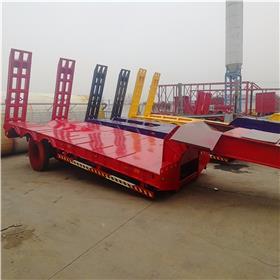 13米勾机板半挂车 挖掘机运输半挂车 梁山勾机板拖车报价