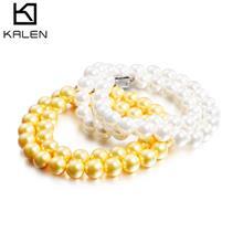 厂家批发贝壳大颗10mm珍珠项链 车轮形圆珍珠气质百搭珍珠项饰