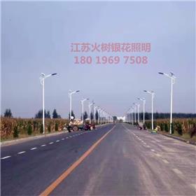 德州 火树银花照明 厂家定制太阳能路灯户外灯新农村5米6米8米单头双头路灯大功率led