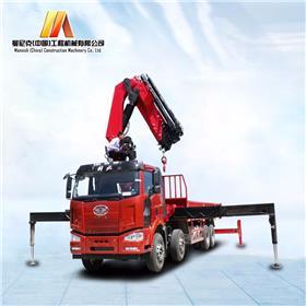 曼尼克 25吨随车吊起重运输车汽车吊起重机 25吨解放随车吊折臂吊