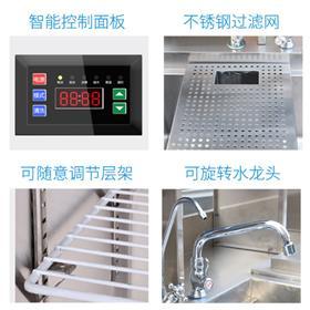 百年-水吧台奶茶店设备-冷藏工作台制-冰机操作台设备