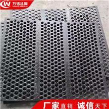 万诺 盖州厂家直销16锰冲孔筛板锰板筛网 金属穿孔板