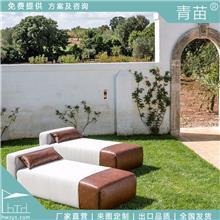 户外休闲定制高级躺床家具花园庭院别墅躺床布艺躺床高品质高质量躺床