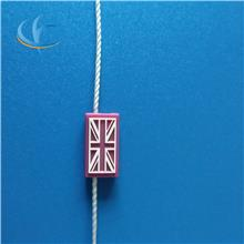 廠家直銷服裝配件通用塑料燙金方扣 吊粒 吊牌繩線 商標掛繩扣粒