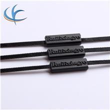 廠家直銷 黑色雙插絲帶吊粒 內衣塑料 方形絲帶吊粒吊繩現貨