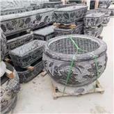 厂家现货供应养鱼石缸 庭院荷花石缸 精品石雕荷花缸 诚石石业总代理