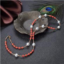 红掌柜珠宝_海水白色珍珠项链_纯天然珍珠项链_海水珍珠价格
