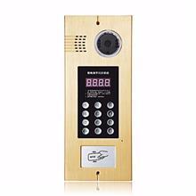 厦门市视博朗彩色可视编码刷卡门口机 感应卡读门禁 LED数码外墙室内楼宇对讲机