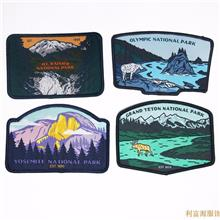 专业生产 织唛胸章 校徽定做 服装辅料领标织标