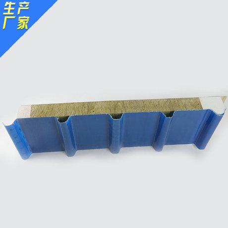 【厂家直销】高强度保温憎水防火岩棉彩钢板 采光瓦夹芯复合板