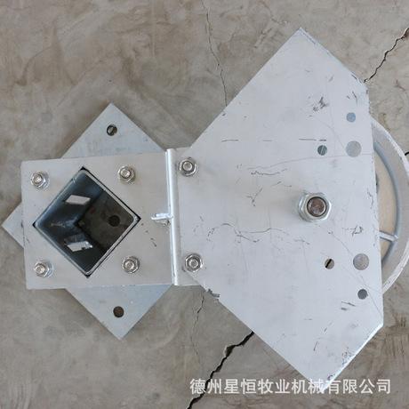 厂家直销清粪机卧式转角轮 专用转角轮刮粪机主机配件