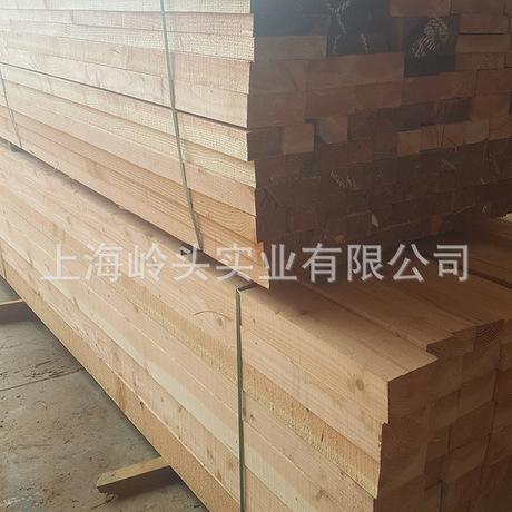 花旗松厂家供应 碳化防腐木批发  支架桥部件材料实木墙板供应