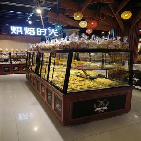 厂家定制各种面包柜台 蛋糕模型展示柜中岛实木展柜及中式糕点柜