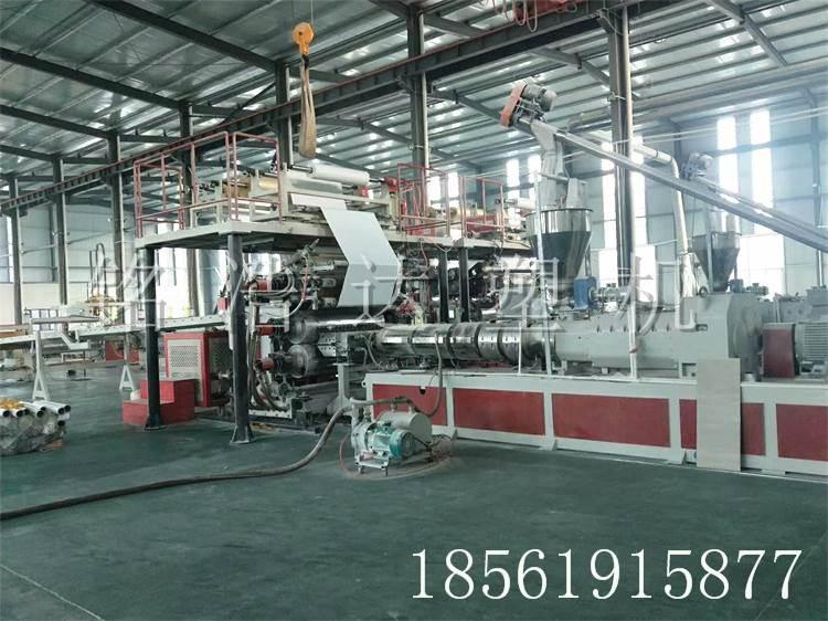 供应PVC石塑地板设备_SPC石塑地板生产线_石塑室内地板加工设备_厂家直销_质量保障