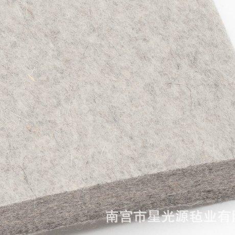 浅灰色羊毛毡工业毛毡半松毛毡软毛毡