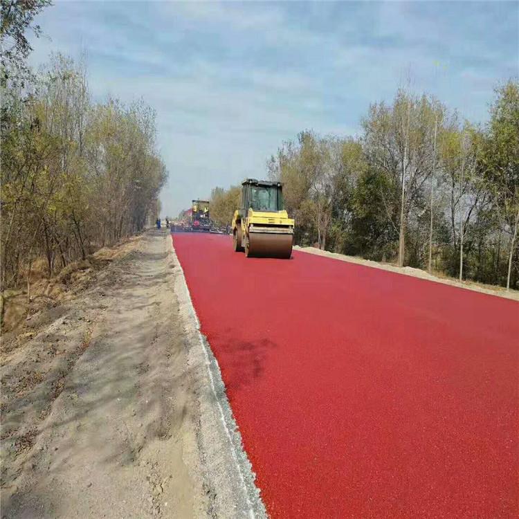 环保耐磨彩色沥青_骏安筑路_彩色沥青红色_商家生产