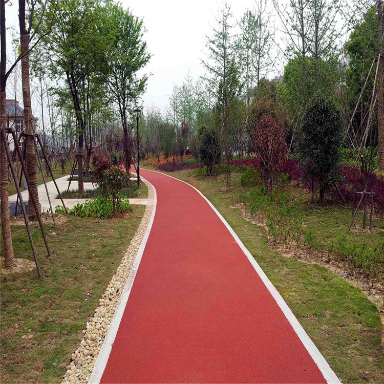 彩色沥青红色_骏安筑路_环保耐磨彩色沥青_经销商订购