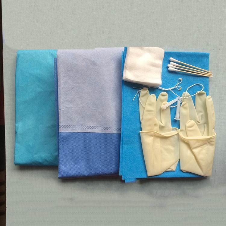 康民卫材生产厂家供应一次性使用产包 妇产科手术包 医用被服包批发