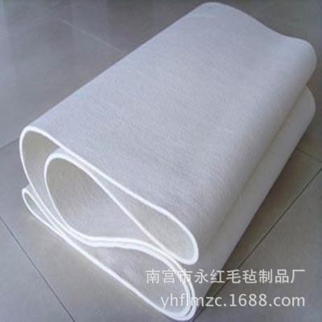 【永红毛毡】蒸汽预缩机专用无缝透气防静电毛毡套毯毛毡带呢毯