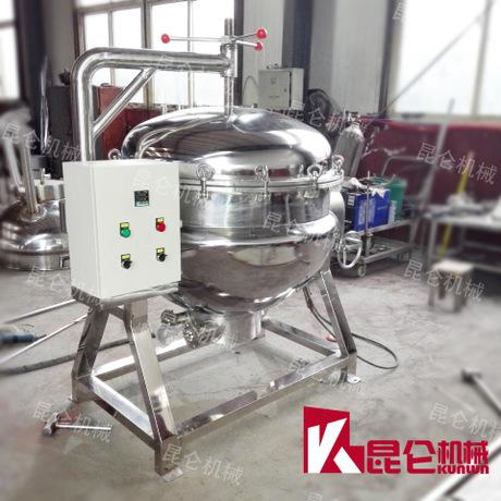电加热蒸煮锅 高温高压粽子煮锅 304不锈钢夹层锅 油炸锅机