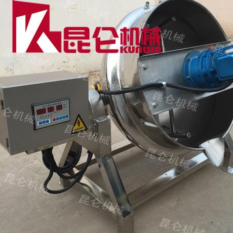 电加热搅拌夹层锅 商用煮粥搅拌熬制机 凉粉加热搅拌机 夹层锅
