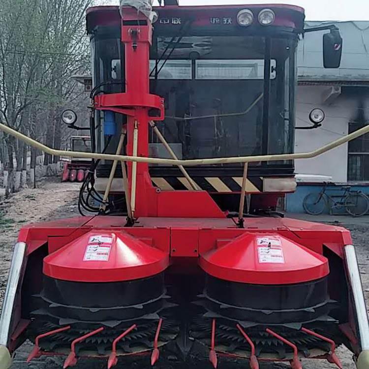 转盘式青储机械玉米秸秆粉碎收割机 大型圆盘地滚刀式青储机