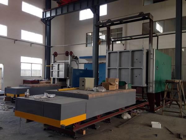 台车式热处理炉_ 中小型台车式热处理电炉_热处理电炉销售厂家华信炉业