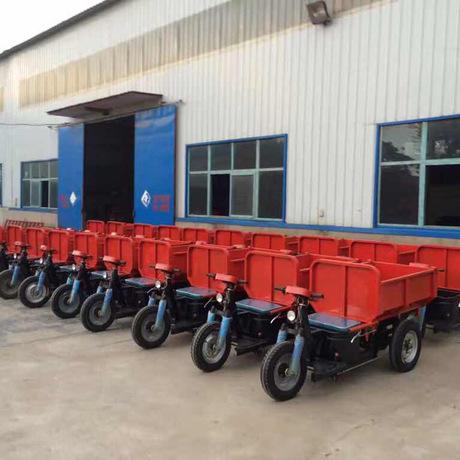 工程运输电三轮车柴油三马矿用电动翻斗工程三轮车 矿用自卸