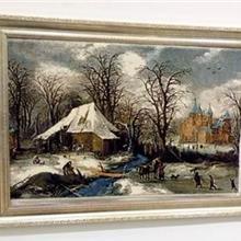 挂毯怎么卖-欧式古典花朵风景艺术挂毯-大幅带框房屋挂毯-厂家直销