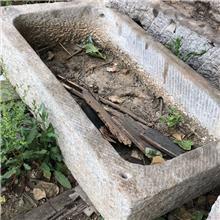 批量出售农村天然老旧青石槽_牛槽水槽 石槽造景流水摆件