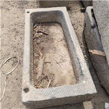 农村天然老旧青石槽_牛槽水槽 石槽造景流水摆件出售